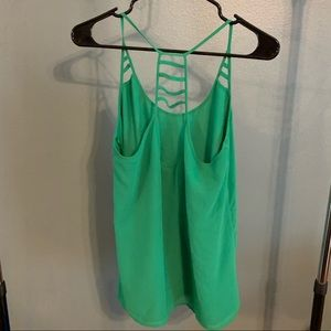 Green Strappy Tank Top
